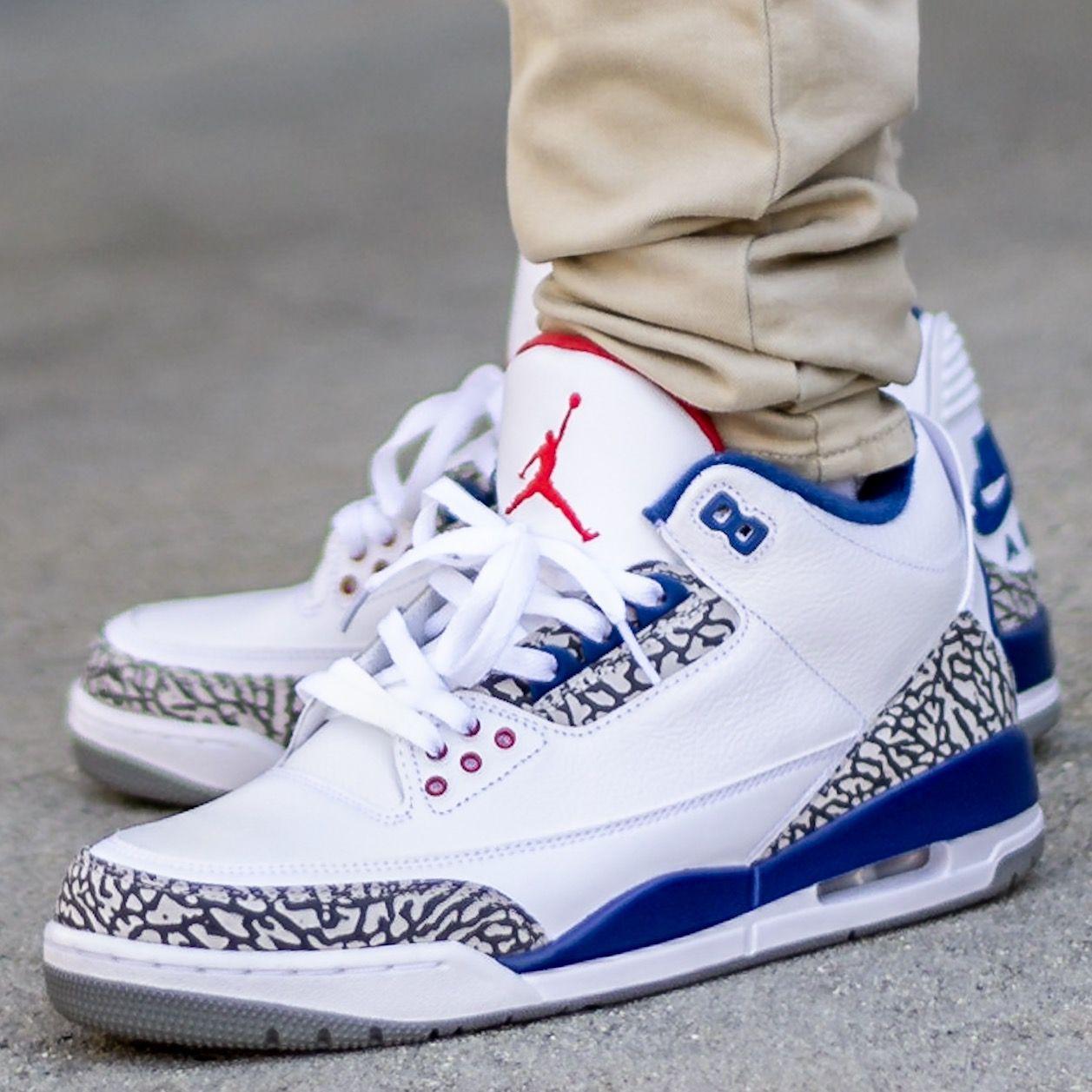 2016 Air Jordan 3 True Blue On Feet Sneaker Review Nike