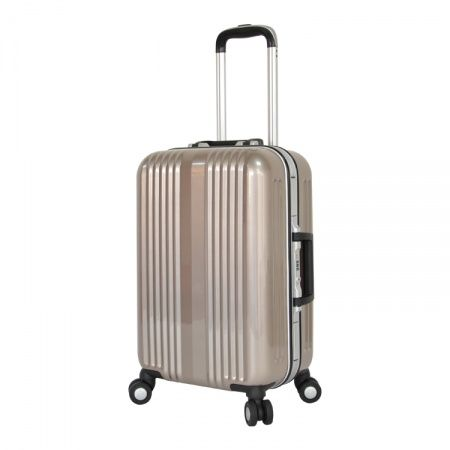 New design Pure PC trolley luggage set with double