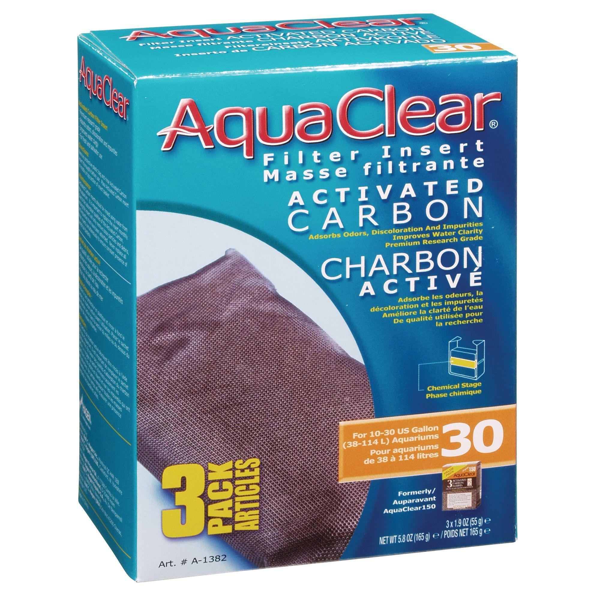 Aqua Clear Fluval Carbon size 3 Count, aqua/carbon