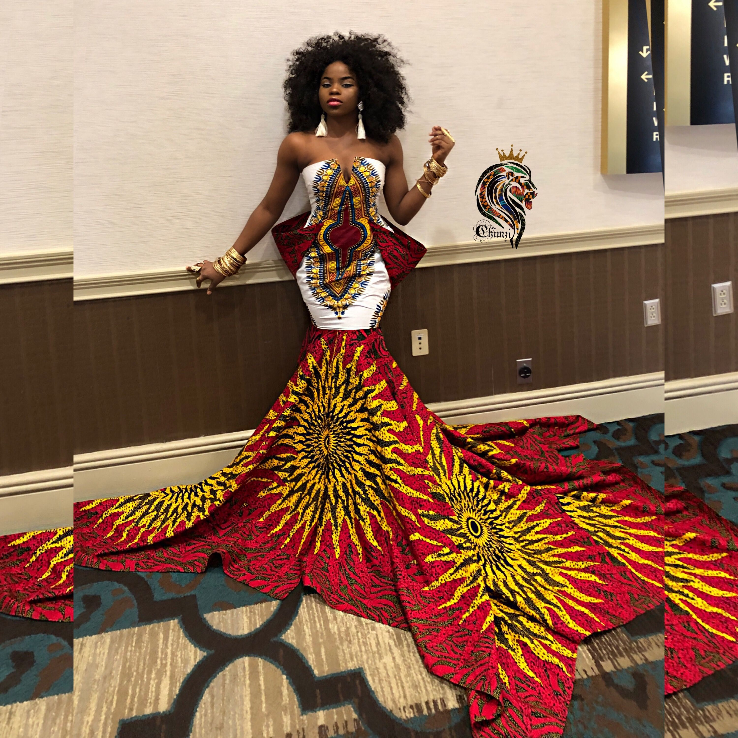 QUEEN AYO WOMEN'S MERMAID DRESS IN WHITE AND RED AFRICAN ANKARA DASHIKI KENTE PRINT FABRIC #ankaramode QUEEN AYO WOMEN'S MERMAID DRESS IN WHITE AND RED AFRICAN ANKARA DASHIKI KENTE PRINT FABRIC #ankaramode