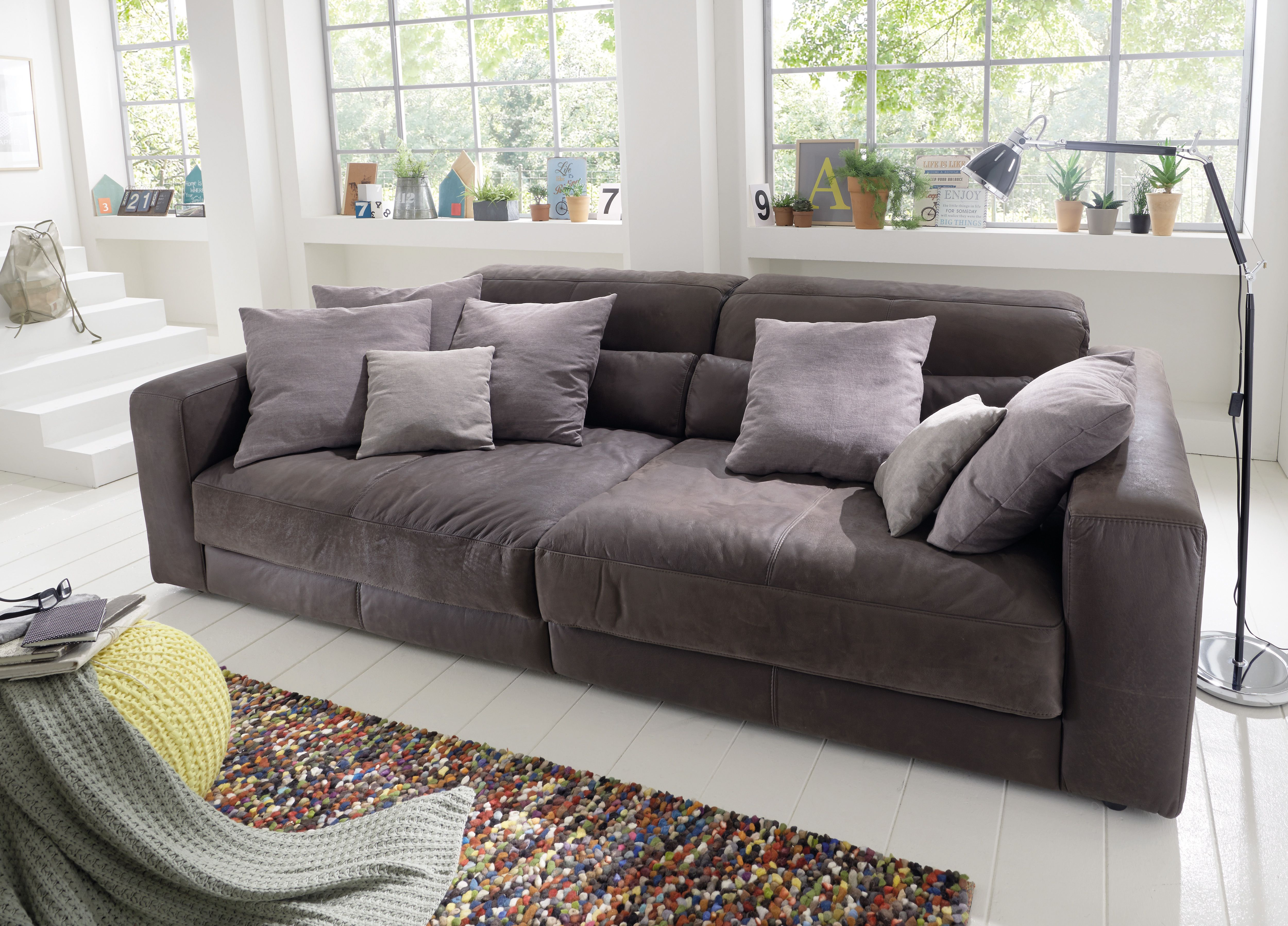 Riesen Ledersofa Extra Tiefes Sofa Um Einfach Mal Zu Chillen