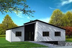 Maison moderne avec toiture asymétrique. | toitures | Pinterest