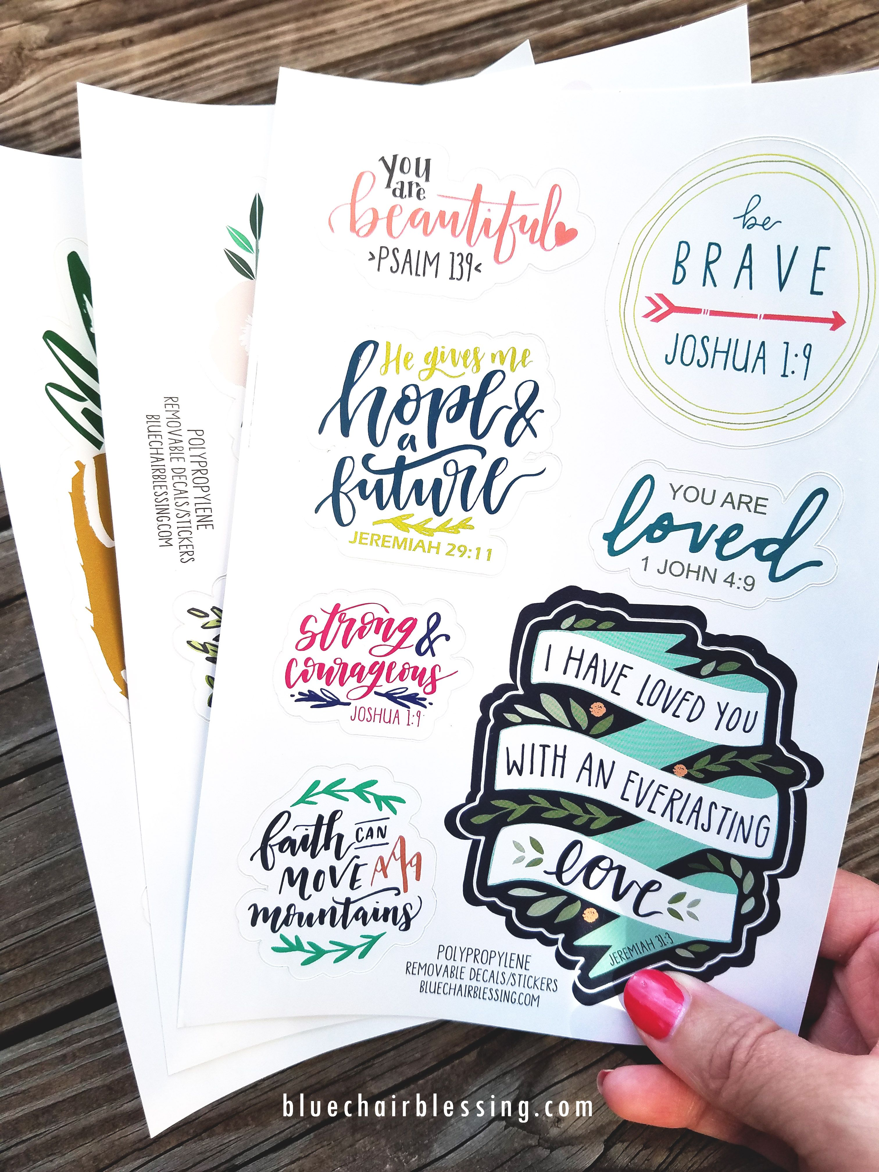 Stickers Decals Great For Lockers Planners Mirrors Car Dashboard Gifts And More Faith Stickers Bible Journal Stickers God Sticker [ 4032 x 3024 Pixel ]