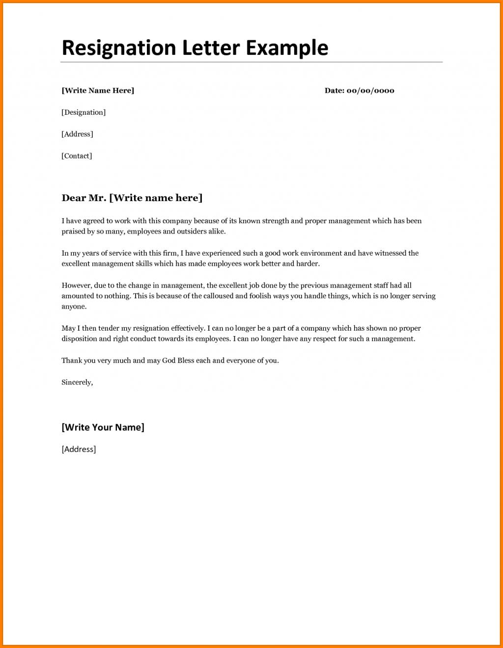 Image Result For Printable Resignation Letter Resignation Letter