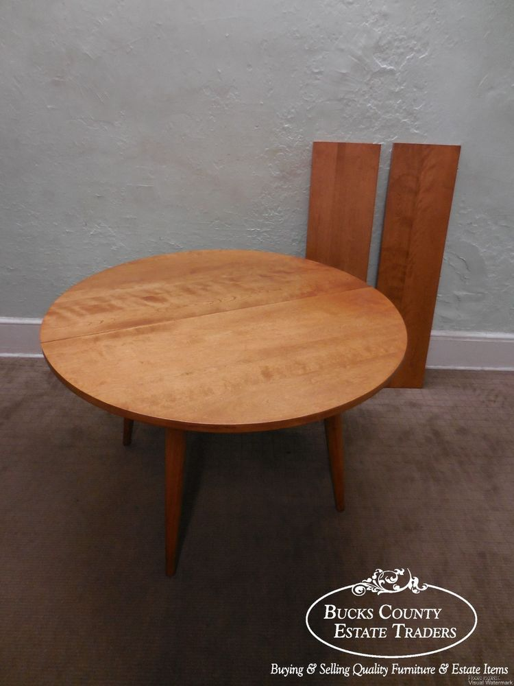 Conant Ball Russel Wright Mid Century American Modern Round Maple Dining  Table #MidCenturyModern