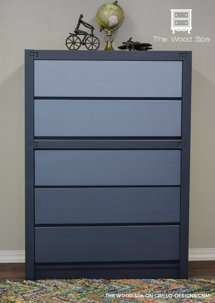 Diy Blue Ombre Dresser Tutorial