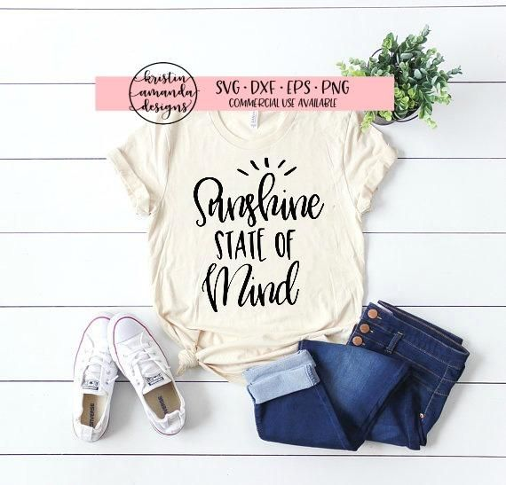 Sunshine State of Mind SVG DXF EPS PNG Cut File • Cricut • Silhouette