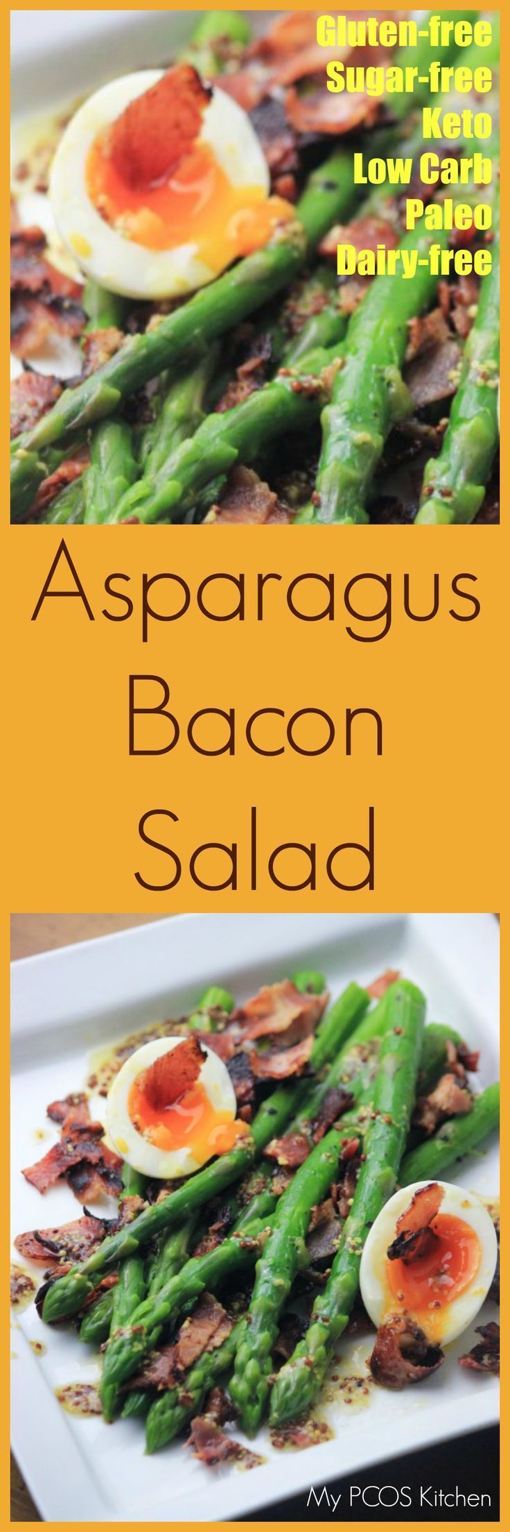 My pcos kitchen asparagus bacon salad an amazing