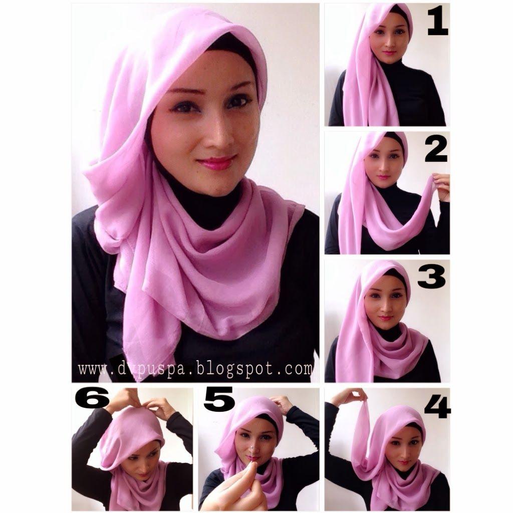 Tutorial Hijab Segi Empat Syari Untuk Lebaran Kerudung Pesta Pernikahan Gaya Hijab