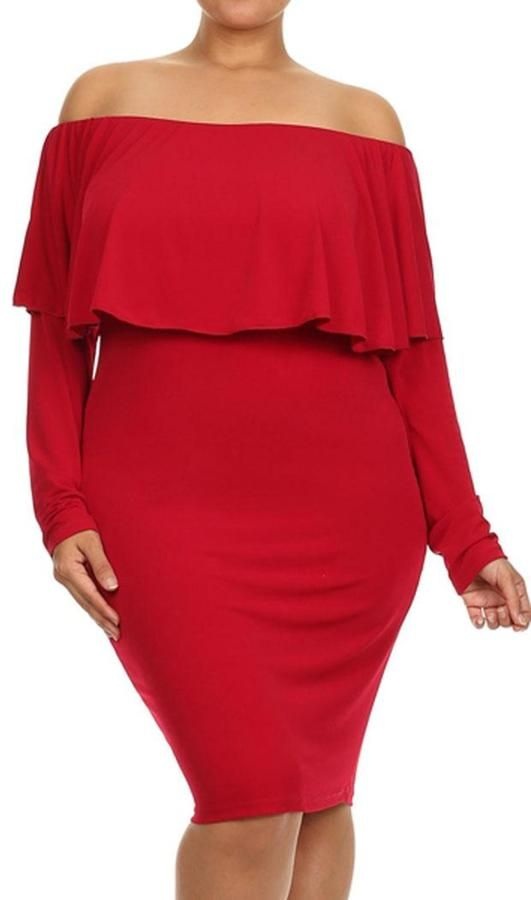 a01a3098856 Sexy Red Dress  plussize Plus Size Clubwear