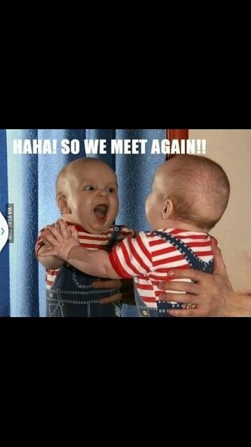 Looking in the mirror | Funny baby pictures, Funny ...