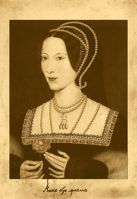 Anne Boleyn (this is the only time that I have been able to find the painting which shows Anne's six fingers on both her hands.)