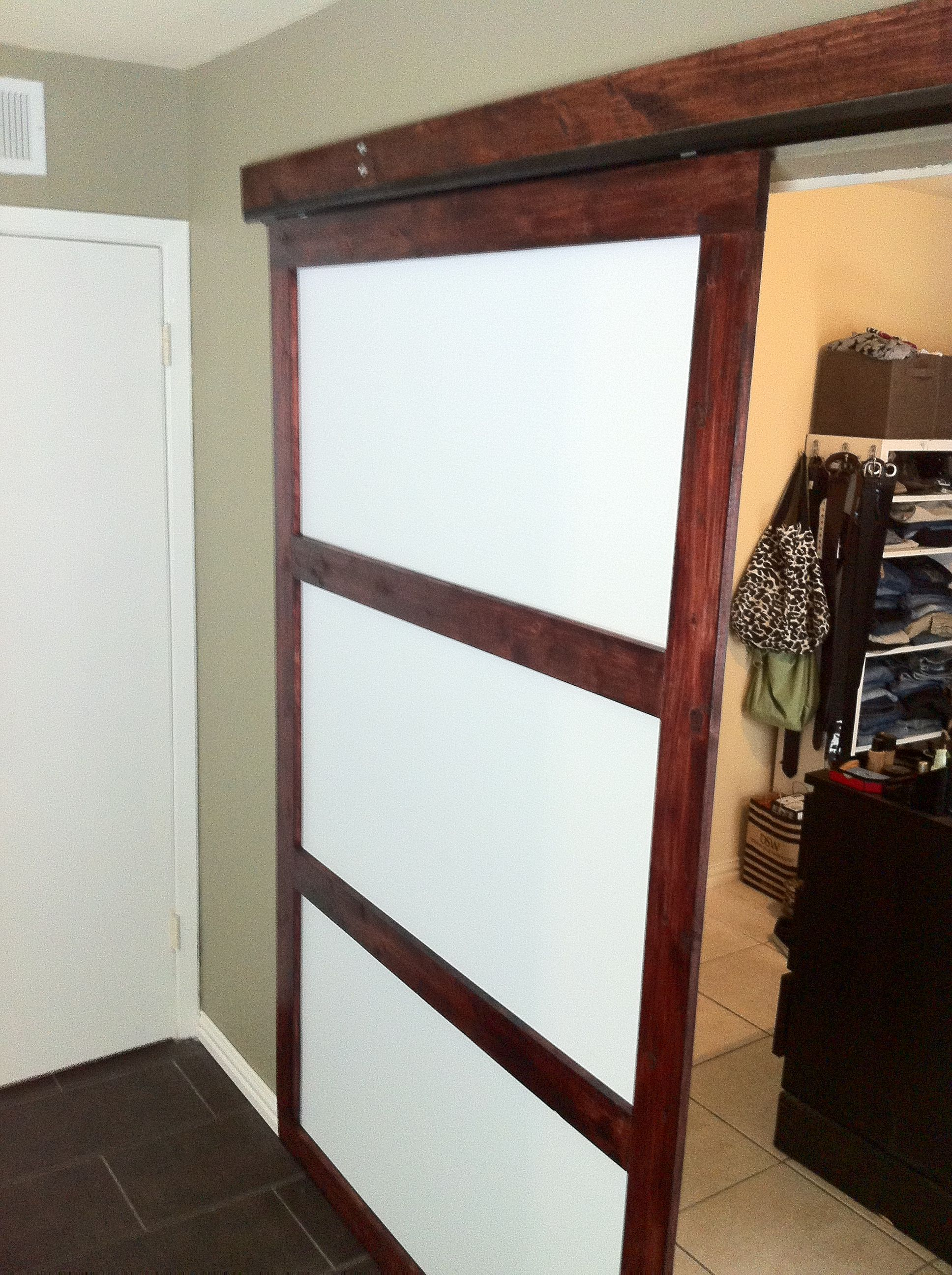 Diy Closet Sliding Door Link To A Quick Affordable Closet