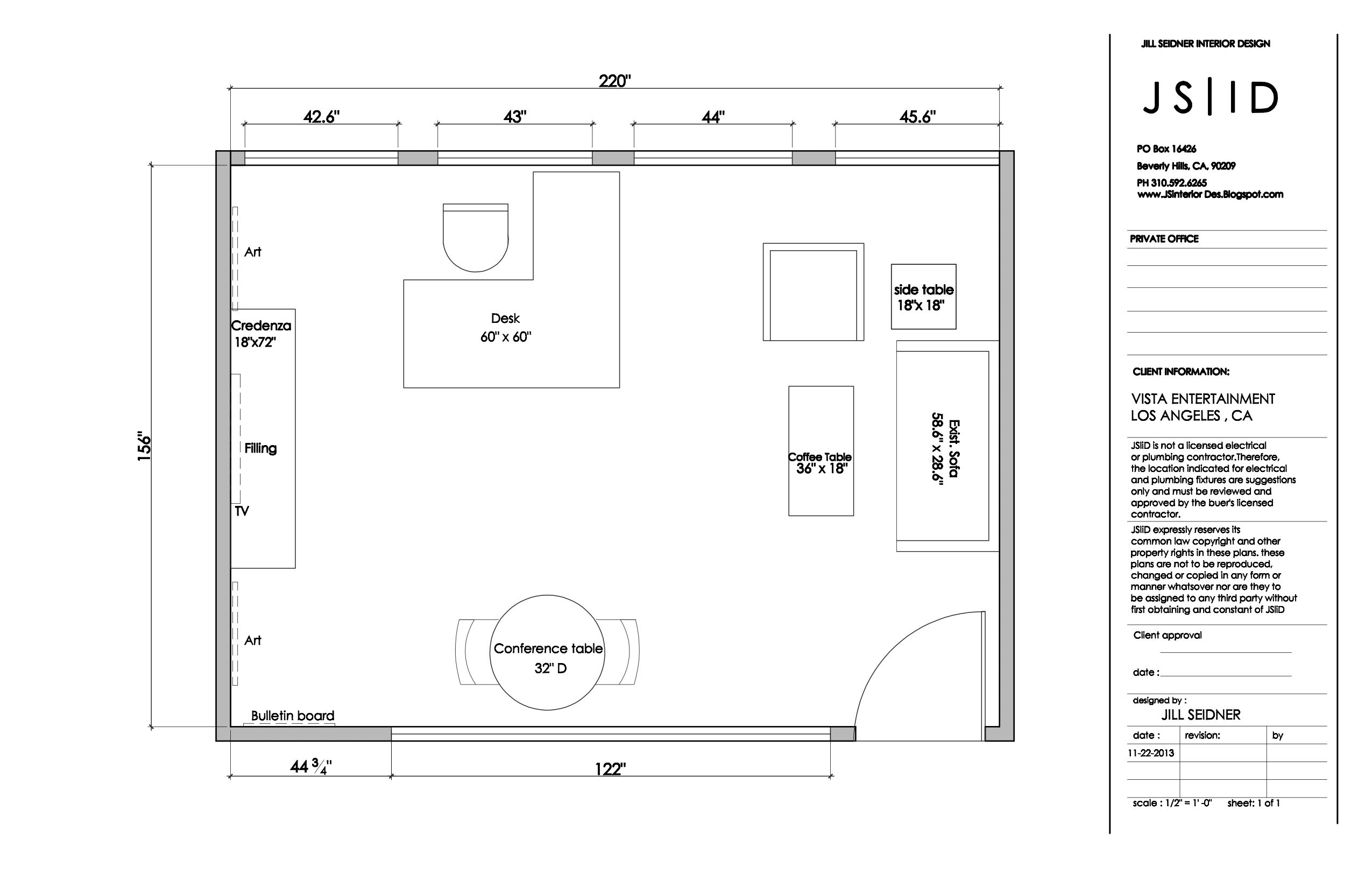 Los Angeles CA Entertainment Office Executive Office Furniture Floor Plan La