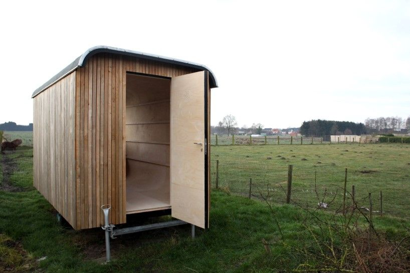 Discarded Construction Trailer Transformed Into Flexible Dwelling Cozy Office Space Cabin Design Affordable Housing
