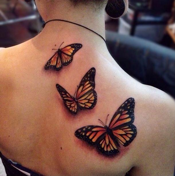 On Collarbone W Thyroid Awareness Colors Tatuering Fjarilar
