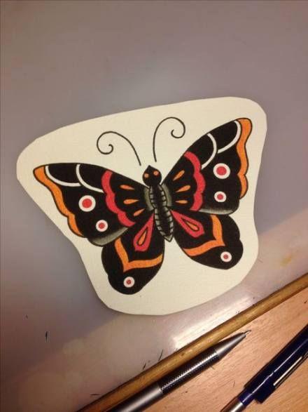 Trendy tattoo old school skull butterflies Ideas