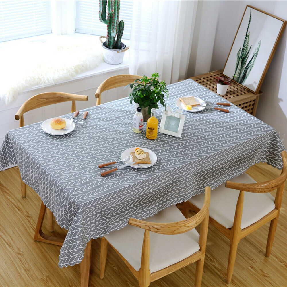 Tablecloth/&Dining Chair Covers Set Pastoral Plant Stretch Table Cover Slipcovers