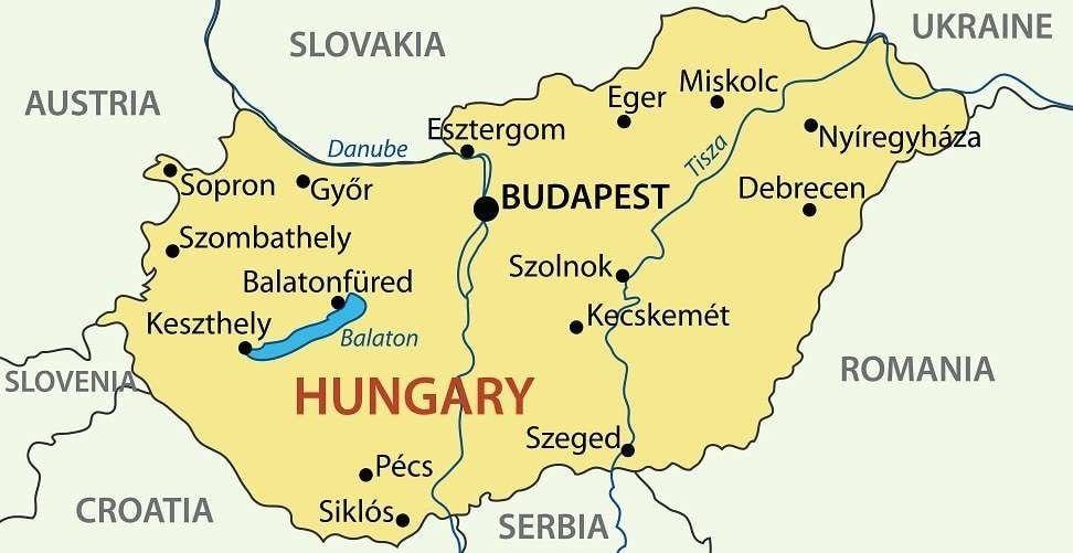 كم يبلغ عدد سكان دولة المجر Hungary Debrecen Budapest