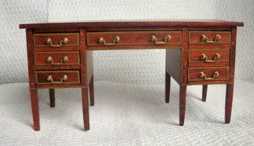 Antique Tynietoy Rising Sun Chair Matching Desk Very Rare