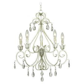 Saria Chandelier in Weathered White
