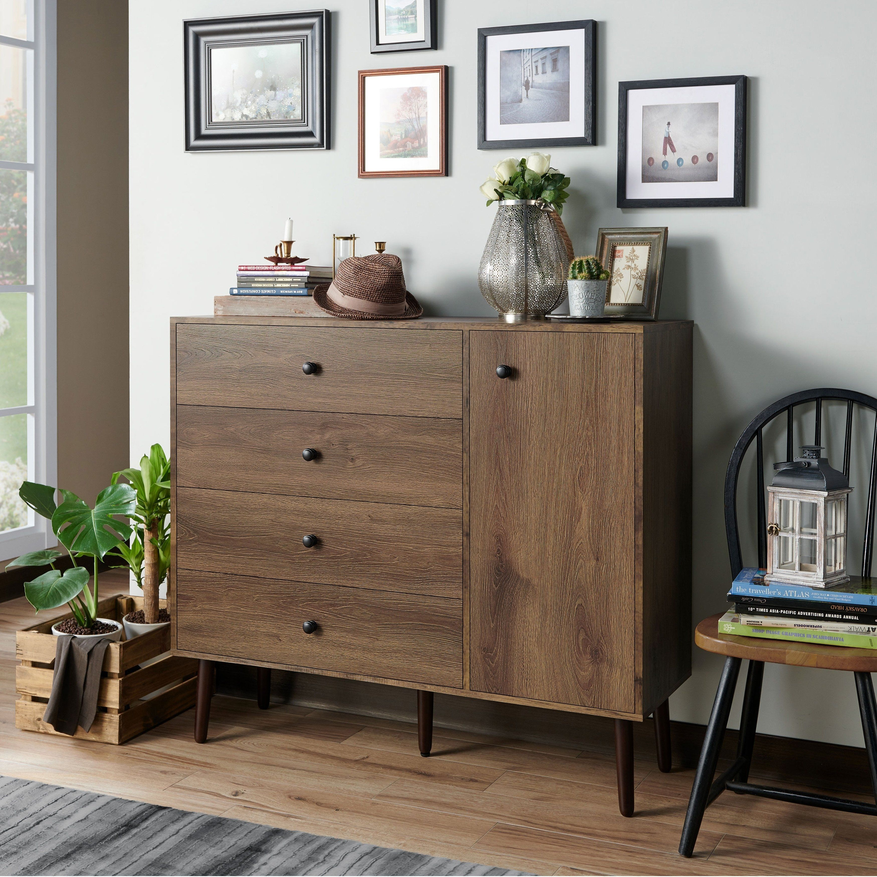 Carson Carrington Getaria 4 Drawer Hallway Cabinet Brown