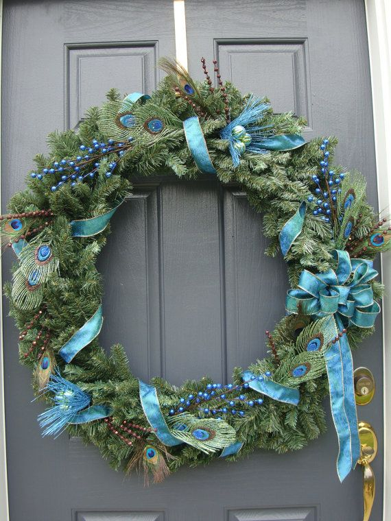 Holiday Peacock Feathered Wreath - One of my Favorites so far!