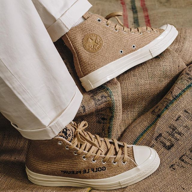 357339db467e19 Hessian textures take hold with the CONVERSE X GOLF LE FLEUR BURLAP PACK -  Hit the link in our bio for a closer look ahead of the drop scheduled for  ...