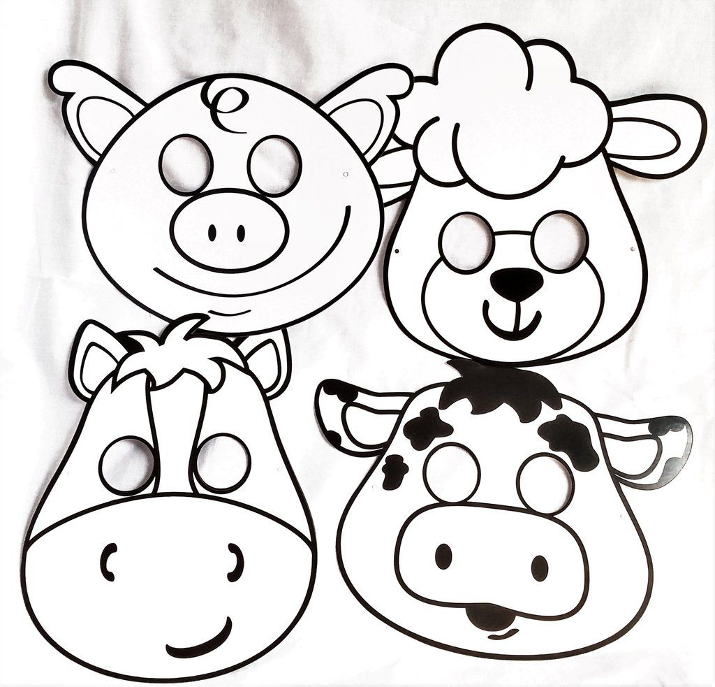 Farm Animal Masks: Color Yourself Only 1 set left. To be
