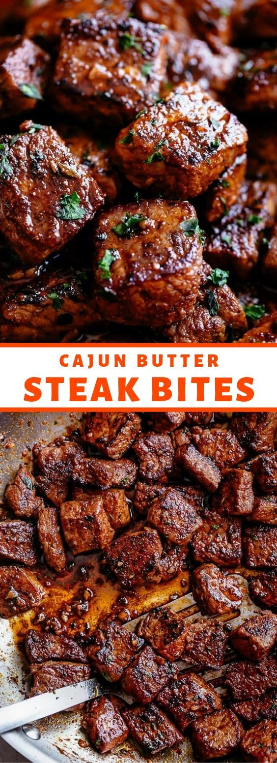 Photo of Cajun Butter Steak Bites – Tender and juicy Cajun Butter S …