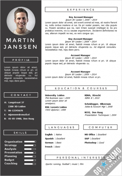get your cv noticed  creative cv template in word and
