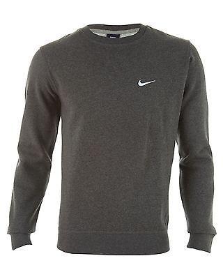 14f4e04d25c9 Nike Club Crew Swoosh Mens 611467-071 Grey Fleece Crewneck Sweatshirt Size  2XL