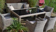 Gartenmobel Set Tisch Bank Und 4 Sessel Rattan Polyrattan Geflecht Paris 7 Sand Grau Online Kaufen Bei Woonio Rattan Mobel Garten Rattan Gartenmobel Gartenmobel