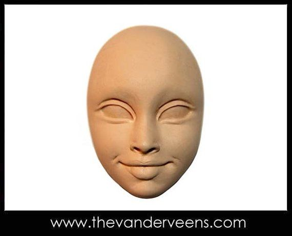 Mold No.241 Full moon Face with kissing by Veronica