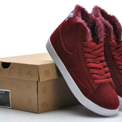Women Nike Blazer High Caterpillar Wine Red