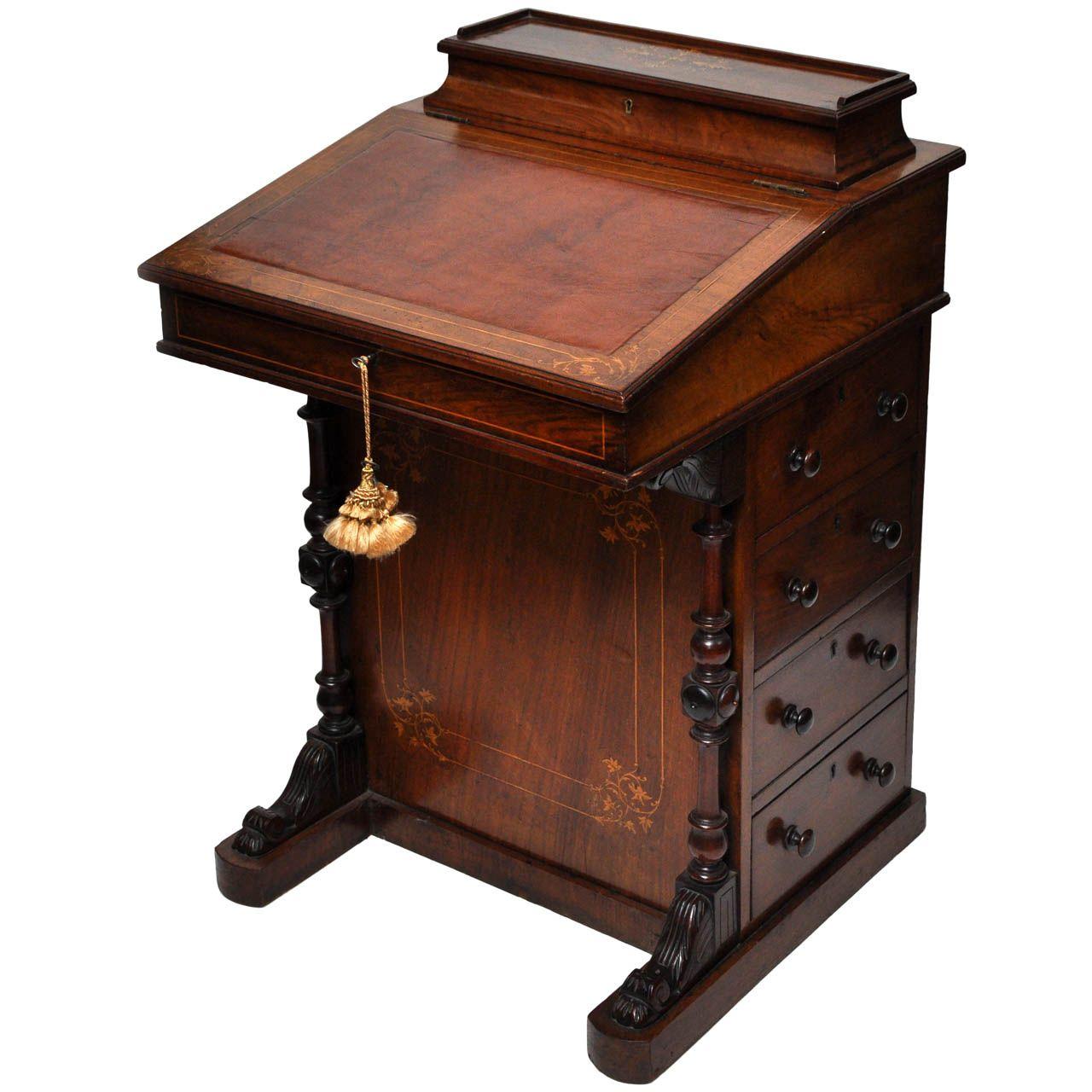 English Davenport Desk Circa 1840 1stdibs Com Vintage Desk Modern Lunch Boxes Desk