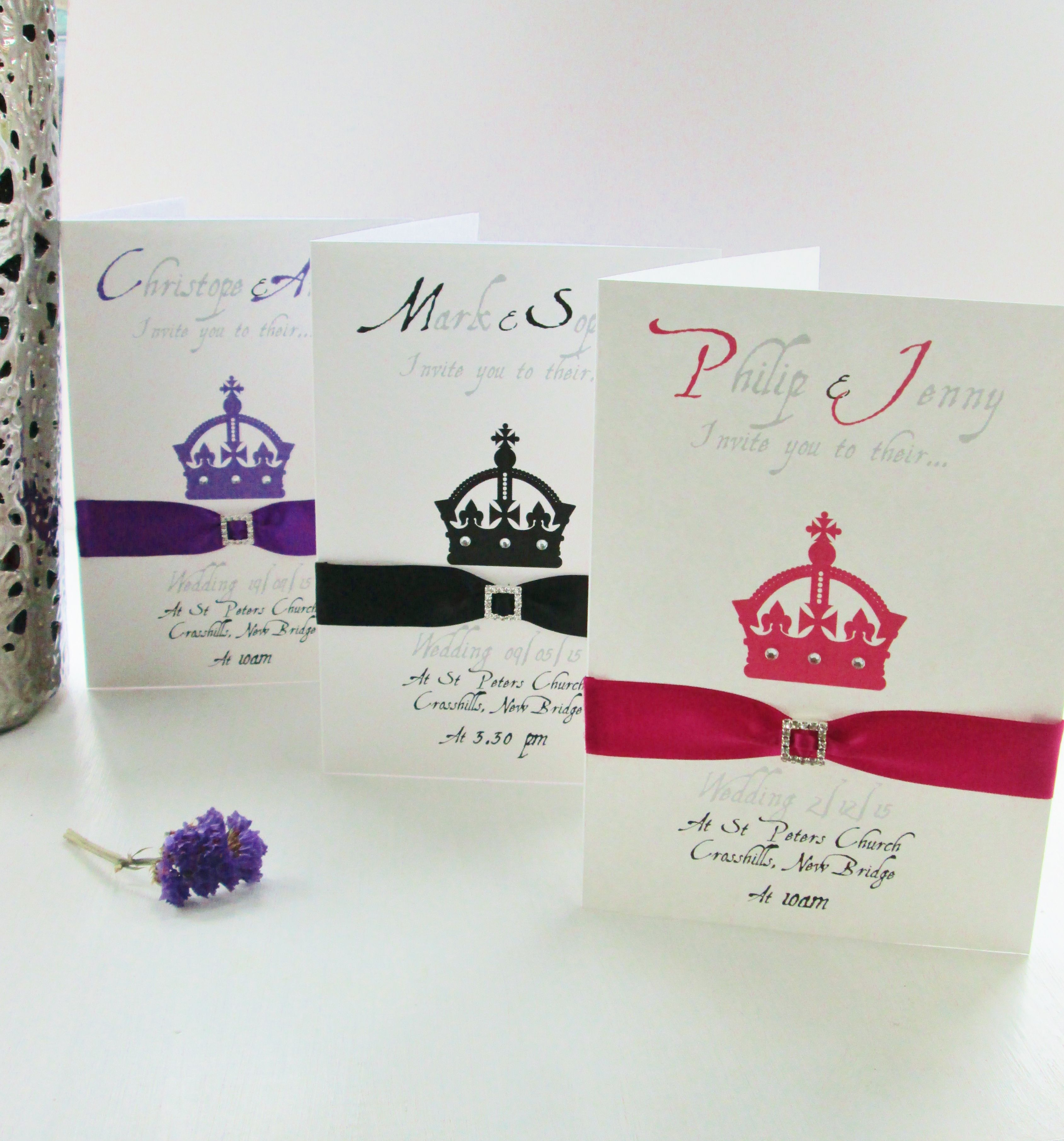 Personalised Wedding Invitation Cards from £3.50