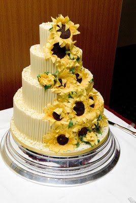 Sunflower Wedding Cake Wedding Cakes Wedding Cake Toppers