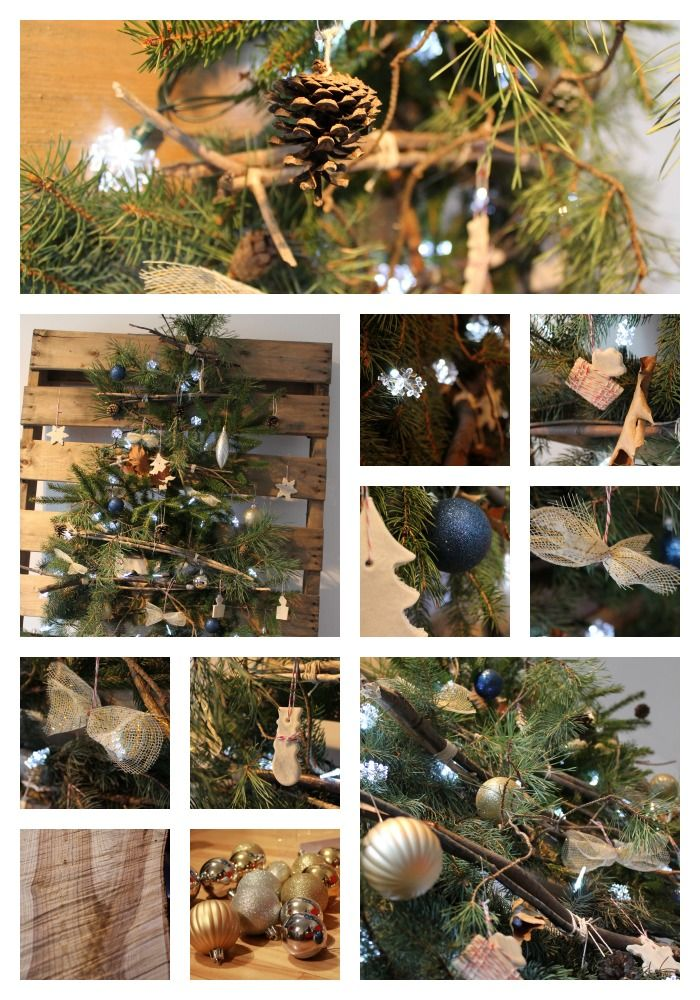 My DIY wooden pallet Christmas tree and ornaments. video in my ...