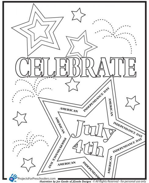 Preschool Coloring Pages For 4th Of July Preschool July