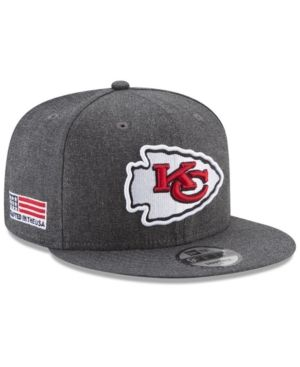 size 40 c404f 6af5b New Era Kansas City Chiefs Crafted In America 9FIFTY Snapback Cap - Carbon  Heather Adjustable