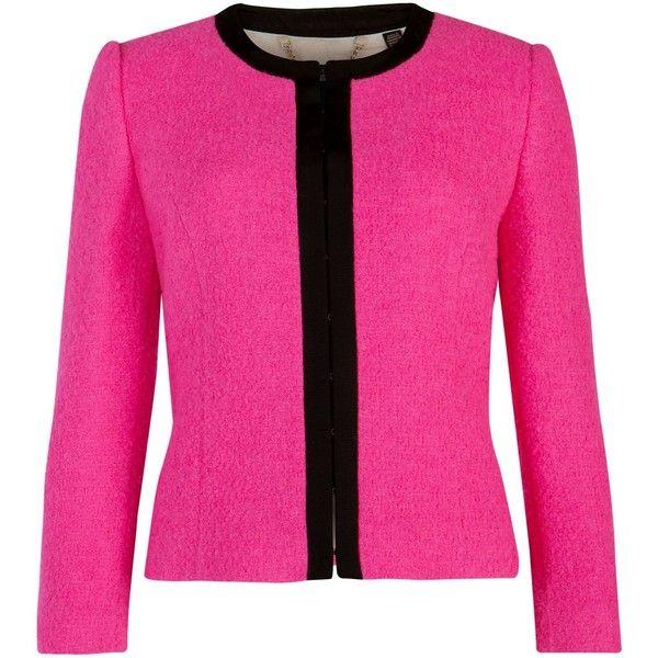 b0e9620d2e038b Ted Baker Kerisa cropped neon jacket ( 270) ❤ liked on Polyvore ...