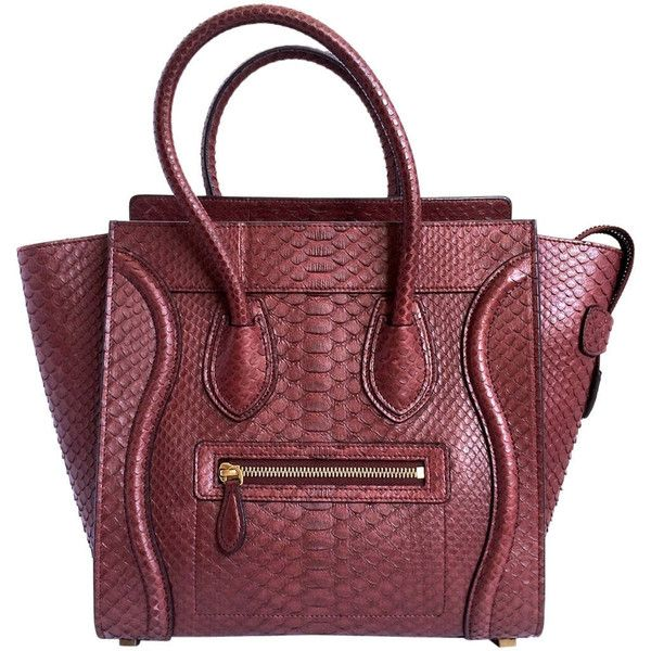 20bc9dbcc323 Pre-owned CELINE bag Mini Luggage python deep burgundy sold out colour  ( 7