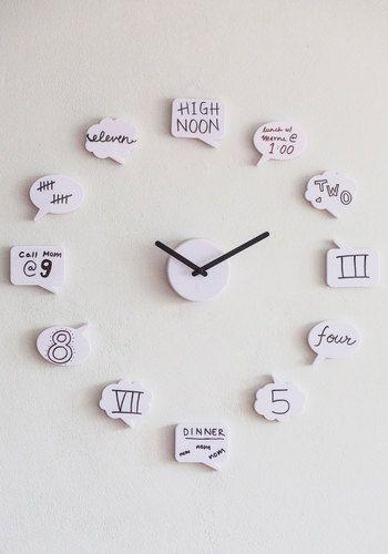 horloge version bd - avec des bulles à personnaliser ! | fais le