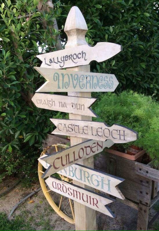 All Roads Lead To Outlander Gartendeko Series De Libros