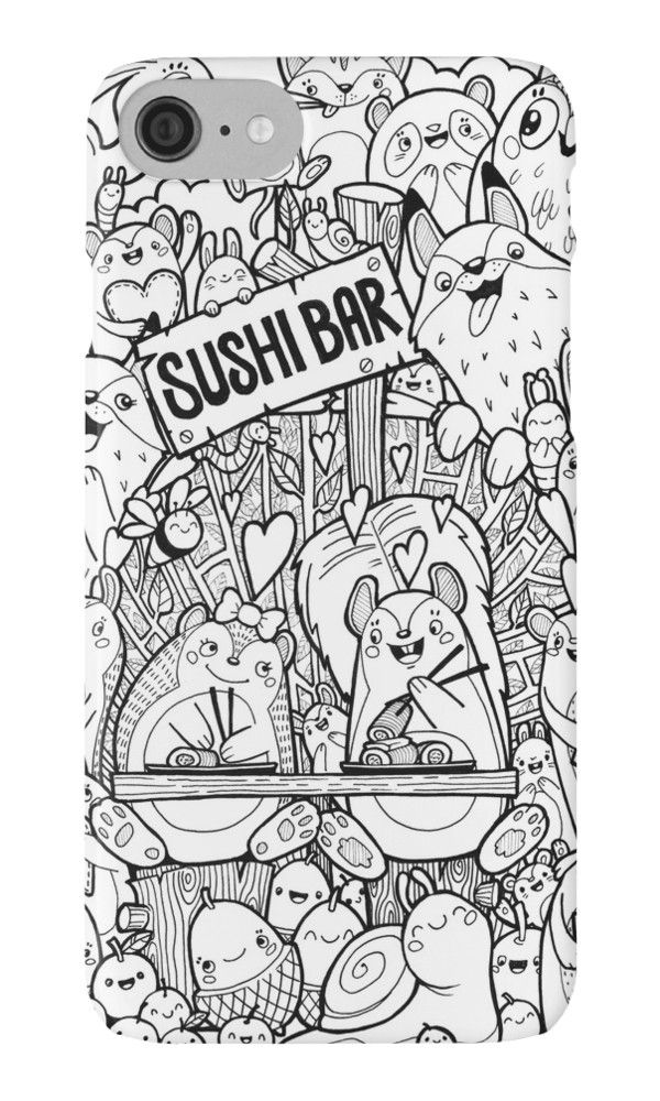 Sushi Kawaii Doodle by Emma Denson | coloring pages for me & my kids ...