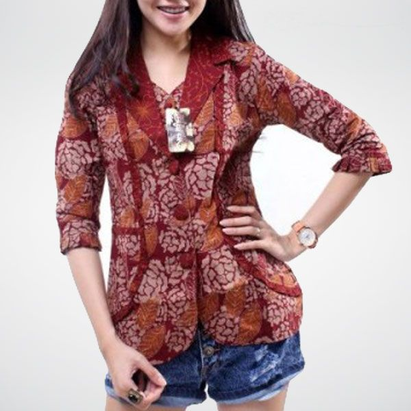 batik blazer ungu  batik  Pinterest  Blazers and Fashion