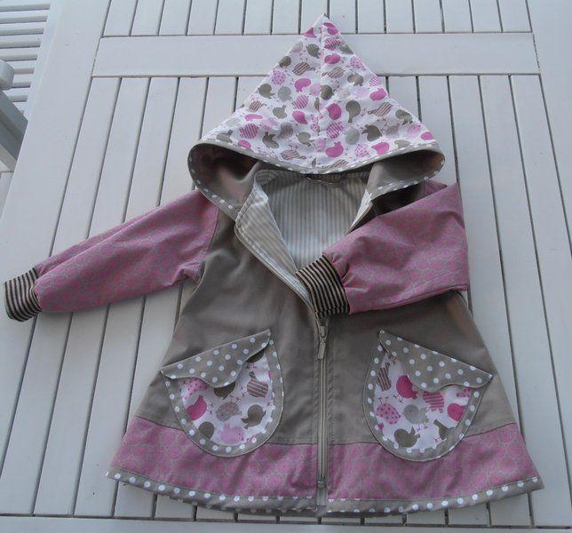 Jacken - Zipfeljacke,Jacke,Übergangsjacke,Farbe rosa/taupe - ein Designerstück von Suzy bei DaWanda