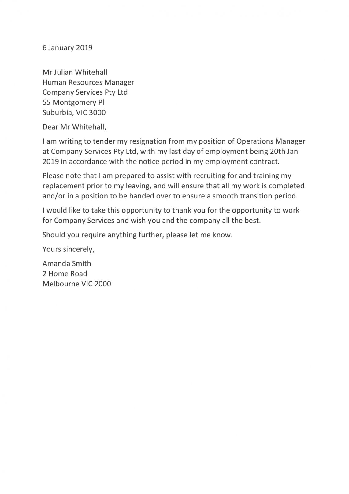 Browse Our Image of Resignation Letter For Personal Reason