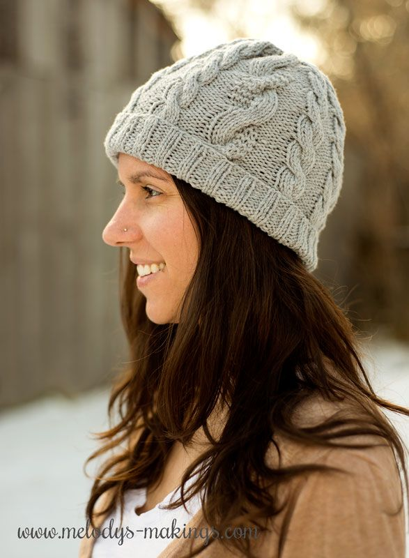 This Free Adult Knit Hat Pattern Features Stunning And Unique Cables